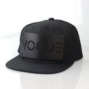 Karl Alley VOGUE Snapback Black Hat Cap Metal Plate Boy London ... 7954a053239