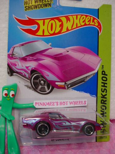 Case M//N 2014 i Hot Wheels /'69 CORVETTE 1969 Chevy #214☆Purple Haze; Blue☆Heat