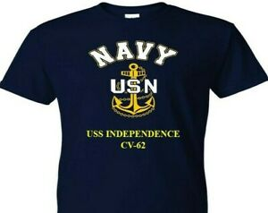 USS-INDEPENDENCE-CV-62-VINYL-amp-SILKSCREEN-NAVY-ANCHOR-SHIRT