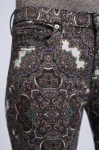 Jeans 7 haute Sz hommes en 26 Nouveau Pour à cheville skinny les tous taille imprimé jacquard gwdx0vq