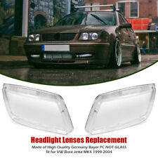 Pair Of Helix Plastic Headlight Lense Replacement for 99-05 VW Jetta Bora MK4