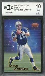 Peyton-Manning-Rookie-Card-1998-Topps-Stars-Bronze-67-Colts-BGS-BCCG-10