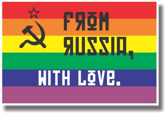 Gay Russian Flag - NEW Classroom Motivational Poster