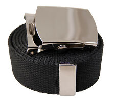 "60 Inches Plain Canvas Web Military ""Plain"" Belt Buckle 20 Color"
