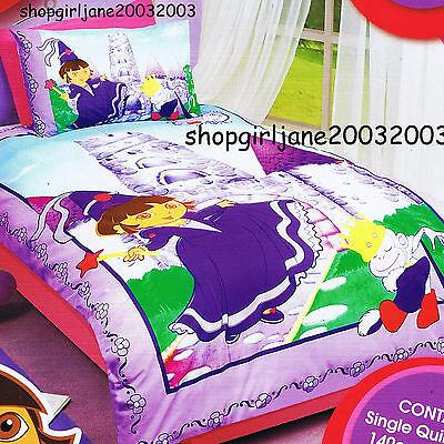 Dora the Explorer Sunshiny Day Single//US Twin Bed Quilt Doona Duvet Cover