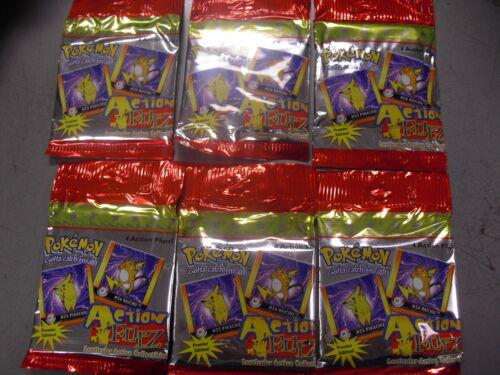 Pokemon action Flipz Trading Card 6 Booster Pack Premier Hobby Lenticular voltea
