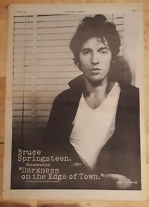 Bruce-Springsteen-Darkness-on-the-1978-press-advert-Full-page-28-x-39-cm-poster