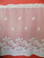 WHITE NET CURTAIN  FLORAL DESIGN  PRICE PER METER  SUITABLE FOR ANY ROOM