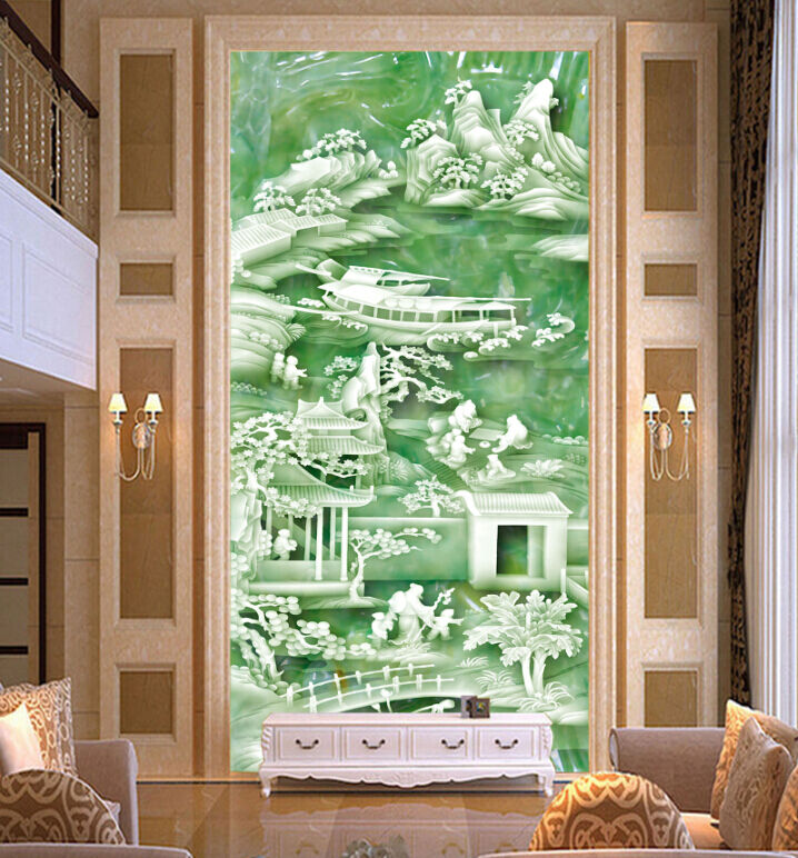 3D Jade Carving Mountain Paper Wall Print Decal Wall Wall Murals AJ WALLPAPER GB