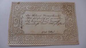 1841 Magnifique Carte De Visite BRUXELLES BELGIQUE