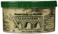 Alkanater Halawa/halva Sesame Candy (pistachio - 2 Lbs) Product Of Lebanon