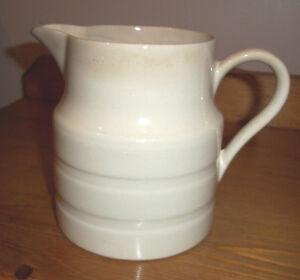 Antique-Edwardian-Pottery-White-Banded-Kitchenalia-Jug
