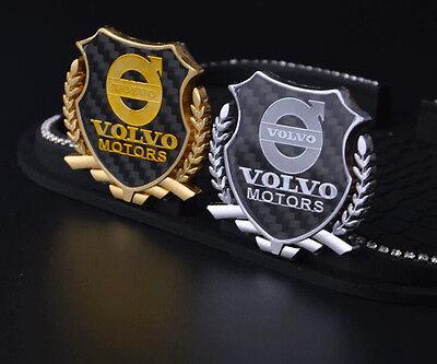 2pcs Car emblem Side Window Fender Badge Logo Decal Sticker Fits Volvo S60 S90