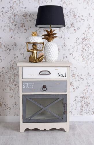 Nachtschrank Vintage Holzschrank Nachttisch Nachtkommode Loft Schrank