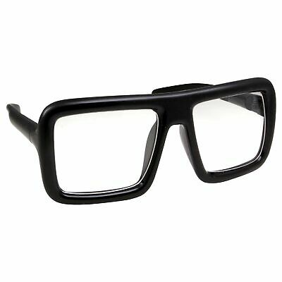 Super Oversized Clear Lens Glasses Thick Square Frame Fashion Eyeglasses