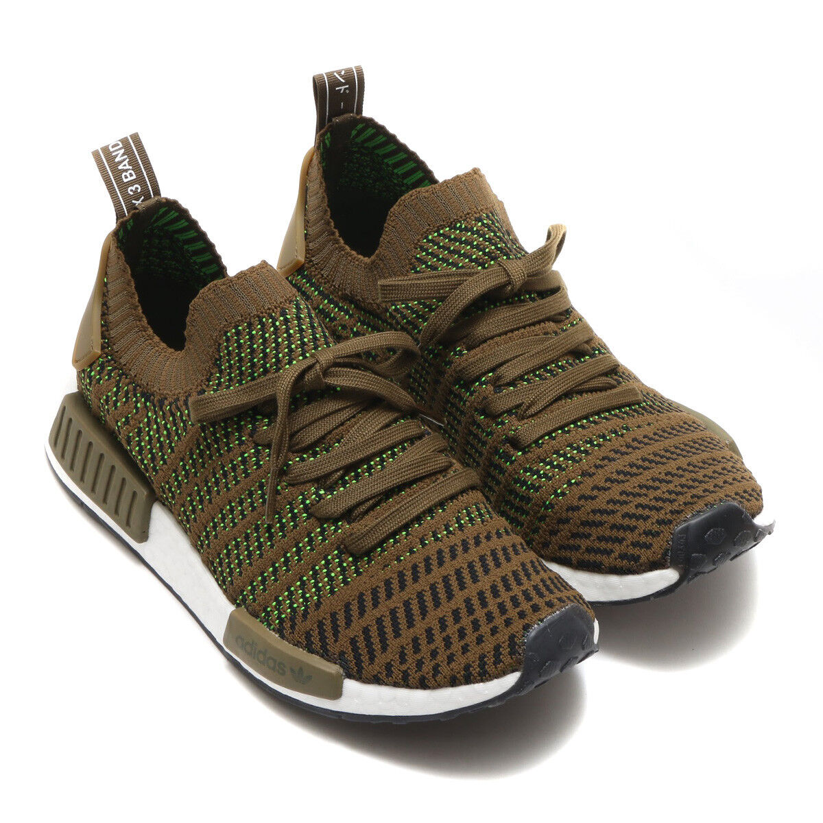 Adidas NMD_R1 STLT Primeknit Herrenschuhe Turnschuhe Schuhe CQ2389 Olive Laufschuhe