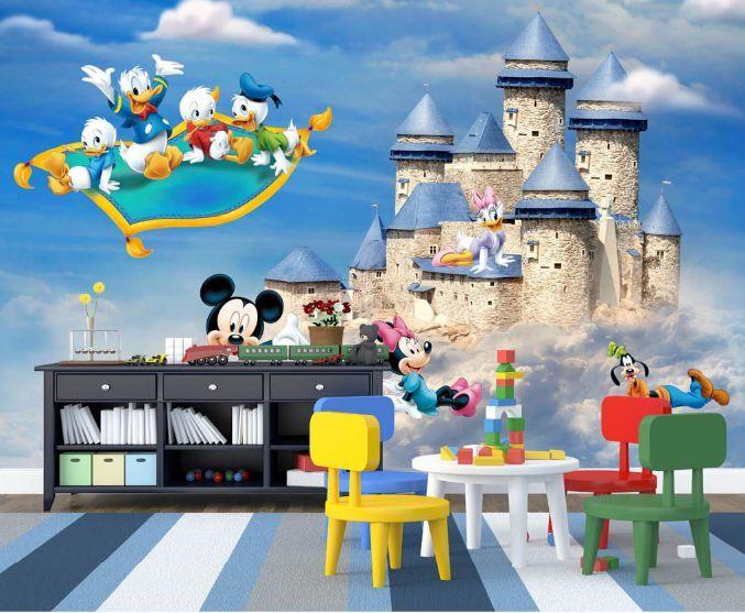 3D Cartoon Schloss 3567 Fototapeten Wandbild Fototapete BildTapete Familie DE
