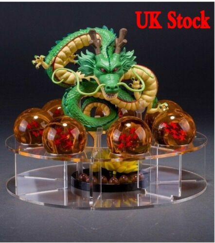 Dragonball Z Shenlong Shenron+7x Star Crystal Ball Set Stand Toy Xmas Gift UK