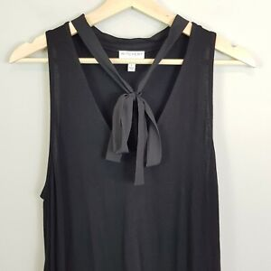 [ WITCHERY ] Womens Black Top w/Tie detail | Size L or AU 14 / US 10