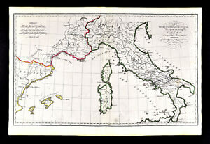 Map Of France Italy And Spain.1818 D Anville Map Ancient Roman Europe Hannibal Route Spain France