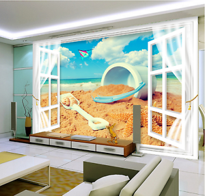3D Beach Sand Toy Painting 6853 Wall Paper Wall Print Decal Wall AJ WALLPAPER CA