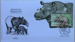 Malaysia FDC with Miniature Sheet (28.07.2019)- Wildlife Conservation Rhinoceros
