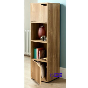 4 Cube Oak Turin Wood Shelve Shelf Shelving Books Toys Living Room