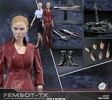 "12"" 1/6th POP Toys Collectible Figure Female Robot Terminator TX Machine"