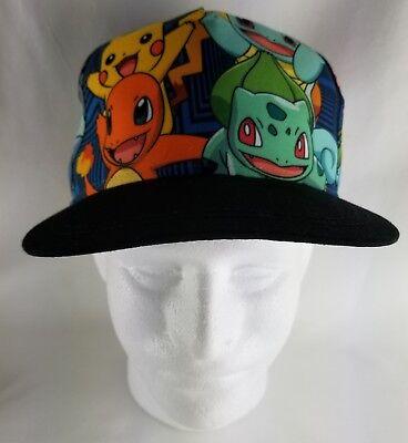 Pokemon Go Pikachu Charizard Squirtle Bulbasaur Kids Cap Hat Youth Size Snapback