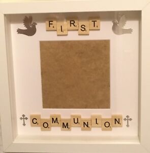 First Communion Holy Communion Scrabble Tileart Handmade Photo