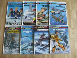 Buck Danny Abenteuer Band 1,2,3,4,5,6 + Blackbirds 1,2   Salleck Verlag 1. Aufla