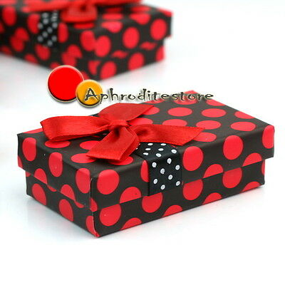5 Pieces Paper Jewelry Rings Present Gift Boxes Case Bowknot Display Container