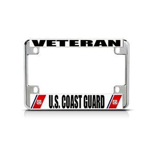 Veteran U S Coast Guard Chrome Metal Bike Motorcycle