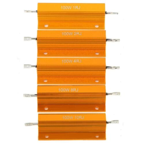 100W Watt Shell Power Aluminum Housed Case Wirewound Resistor 1//2//4//8//10 Ohm LI