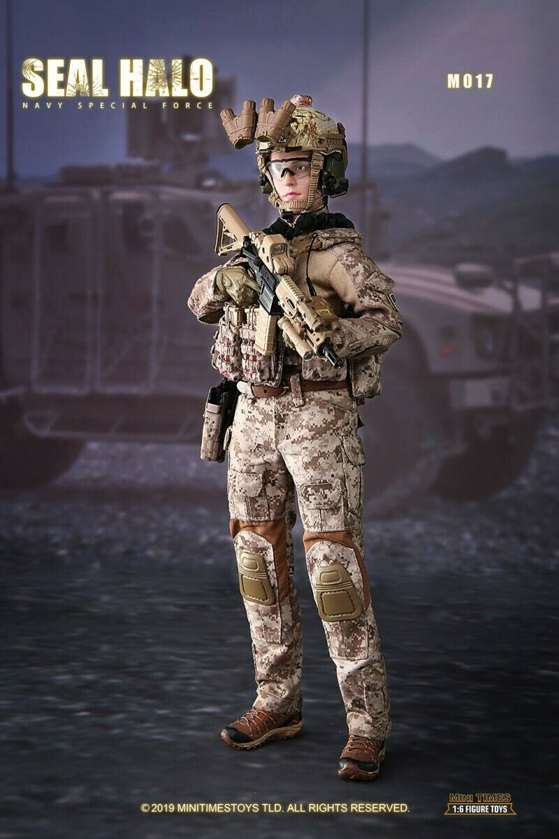 Mini times toys 1 6 M017 Seal Halo Navy Special Force Female Action Figure Model