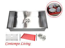 "36"" zero Radius 16 gauge Stainless Steel Kitchen Single Bowl Sink"