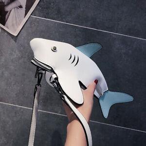 Shark Handbag Crossbody Purse Hand Bag Small Mini Women Kids Party Funny Baby