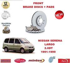 FOR NISSAN VANETTE SERENA LARGO 2.0 D 1991-1999 FRONT BRAKE DISCS SET + DISC PAD