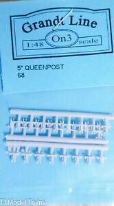 """5/"""" Queenposts Plastic Grandt Line On3 #68 1:48 Scale"""