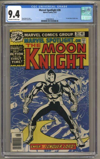 Marvel Spotlight 28 (CGC 9.4) 1st solo Moon Knight story; Newsstand (j#5985)