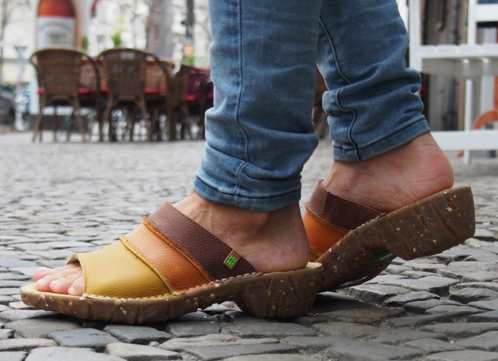 El Naturalista Schuhe YGGDRASIL corn Leder NEU Damen Schlappen Clogs Pantolette