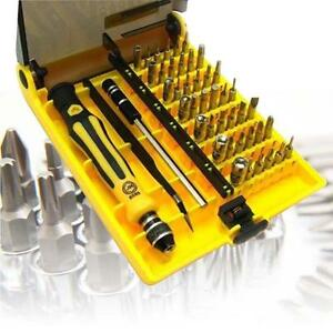 45 in 1 torx precision screwdriver set for cell phone laptop repair tool kit sm ebay. Black Bedroom Furniture Sets. Home Design Ideas