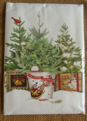 "Mary Lake Thompson Flour Sack Towel - Christmas ""Tree Farm ..."