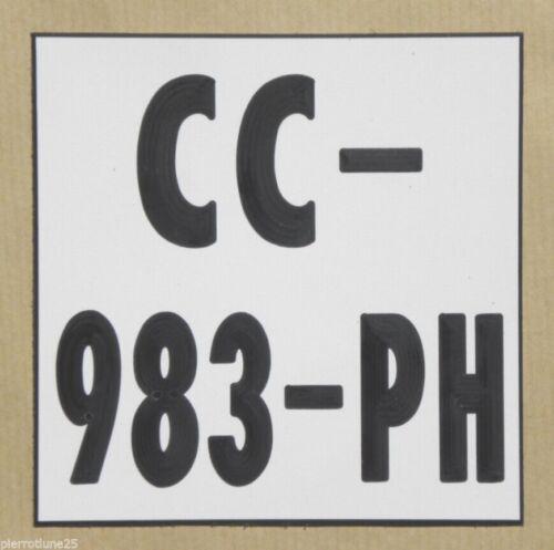 plaque gravée style immatriculation format 10x10 moto tout terrain