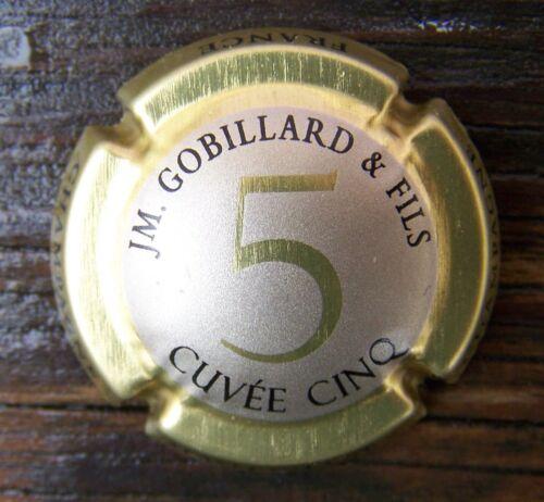 capsule de champagne jm gobillard cuvée  cinq rarissime