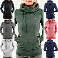 Damen Kapuzenpullover Pullover Sweatshirt Hoodie Kapuze Sweater Pulli Jumper Top