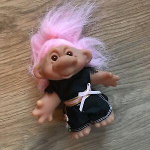 Consciencieux Retro Dam Troll Original Kitsch Good Luck Troll Mignon Fantaisie Fun Toy-afficher Le Titre D'origine Des Friandises AiméEs De Tous