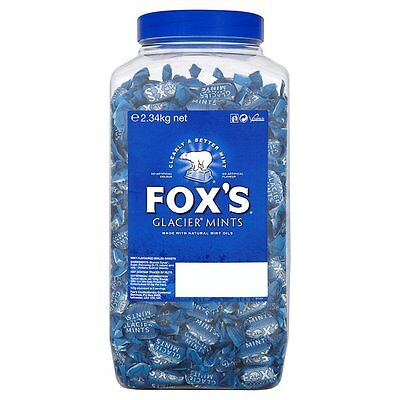 Food & Beverages Special Section Fox's Glacier Mints 2.34kg Jar Of Kids Sweets Treats Gifts Party Halloween
