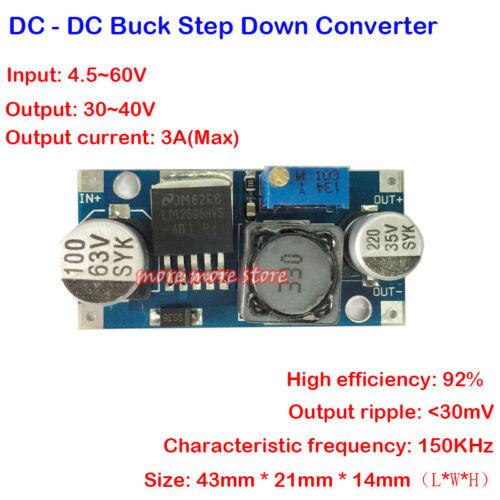 DC-DC Step Down Converter 4.5v-60v to 3v-40v Adjustable Buck Power Supply Module