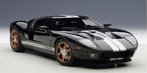 1:18 Autoart Ford Gt  Nero/Strisce Bianche  2004
